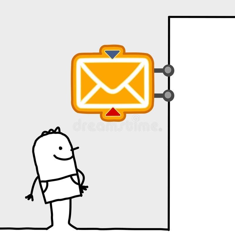 Muestra del hombre y de la oficina de correos libre illustration
