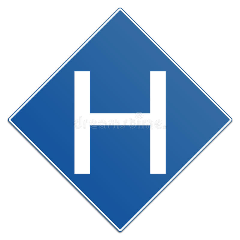 Muestra del hospital ilustración del vector
