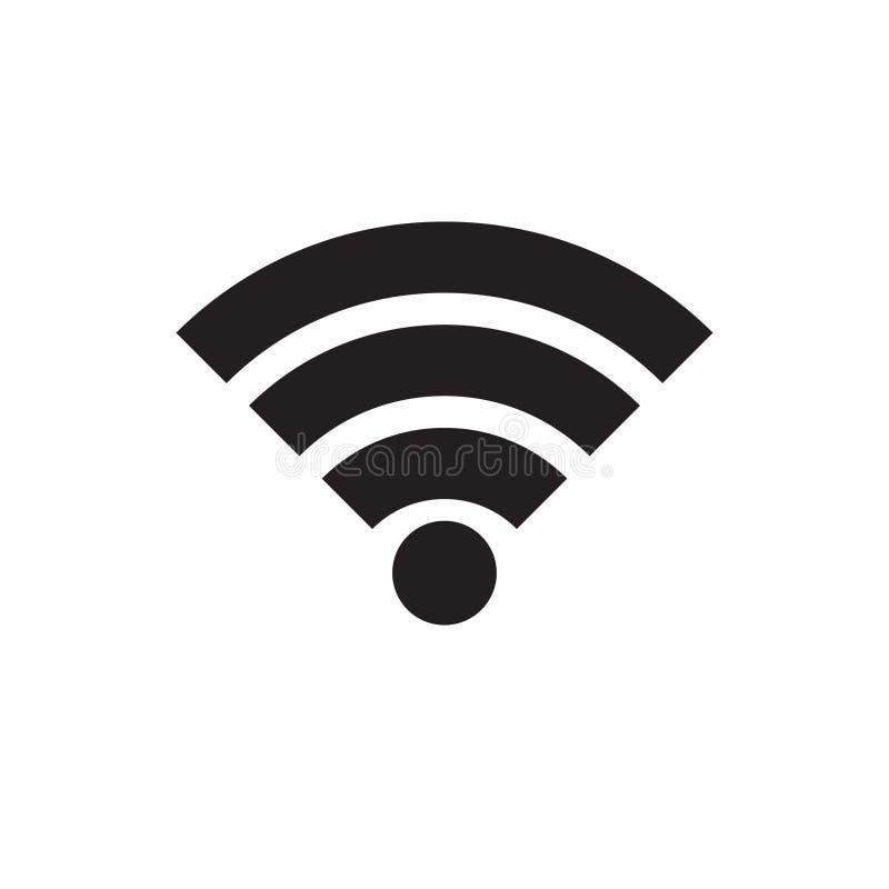 Muestra del icono de la radio y del wifi o del icono de Wi-Fi para el acceso a internet remoto, símbolo del vector del podcast, e stock de ilustración