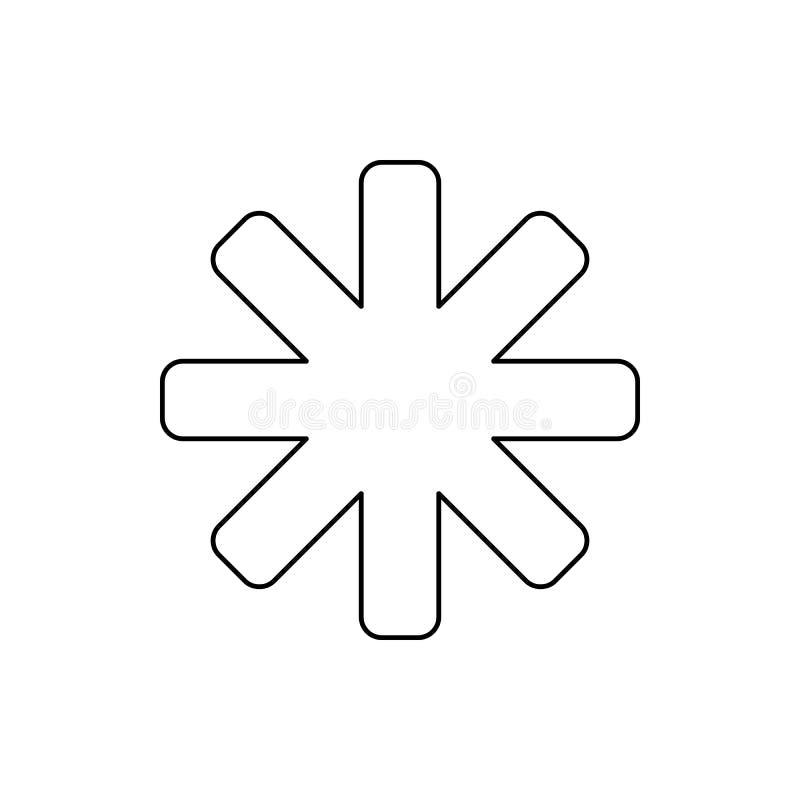 muestra del icono matemático de la ampliación Elemento de la web para el concepto y el icono móviles de los apps de la web Línea  libre illustration