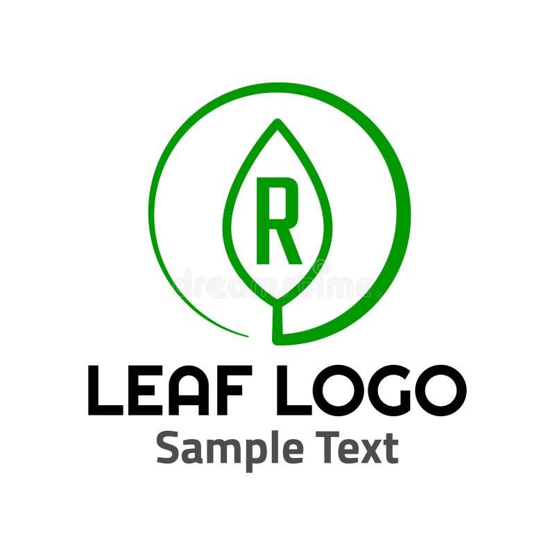 Muestra del icono del símbolo del logotipo de la hoja de 'R ' ilustración del vector