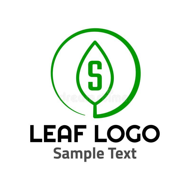Muestra del icono del símbolo del logotipo de la hoja de 'S ' ilustración del vector