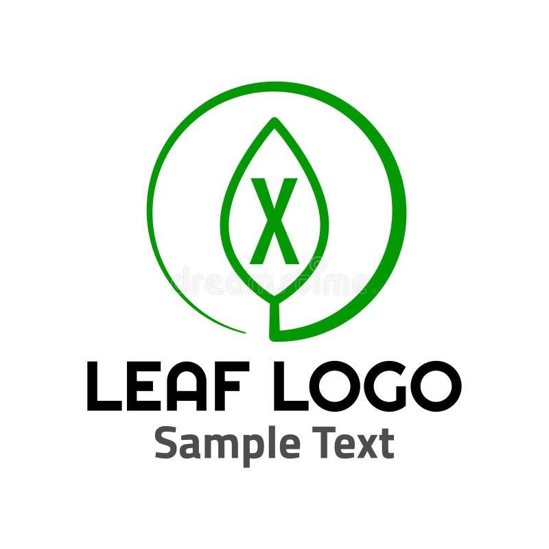 Muestra del icono del símbolo del logotipo de la hoja de 'X ' libre illustration