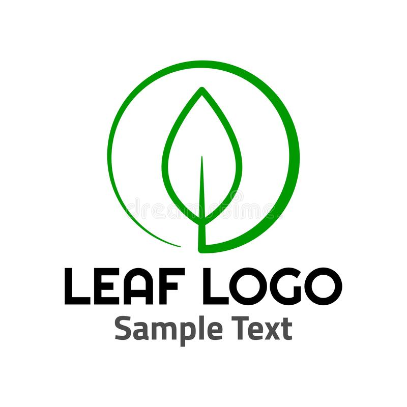 Muestra del icono del símbolo del logotipo de la hoja libre illustration
