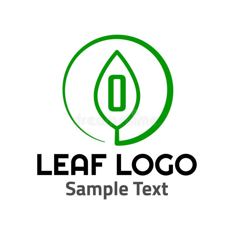 Muestra del icono del símbolo del logotipo de la hoja del ` del ` O libre illustration