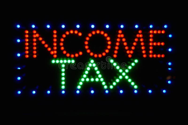 Muestra del impuesto sobre la renta imagen de archivo