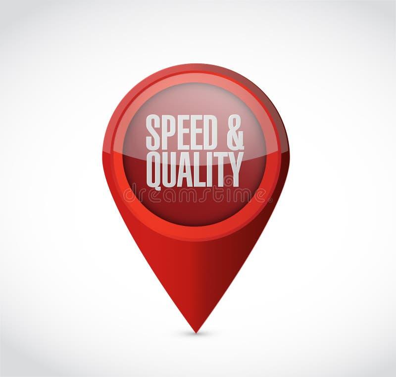 muestra del indicador de la velocidad y de la calidad libre illustration