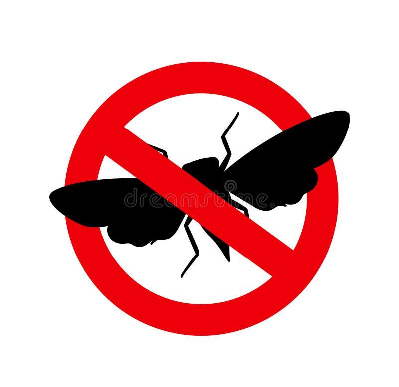 Muestra del insecto de la cigarra de la matanza stock de ilustración