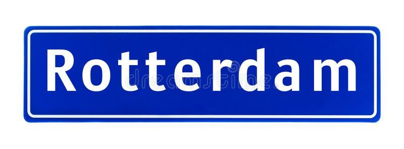 Muestra del límite de ciudad de Rotterdam, los Países Bajos ilustración del vector