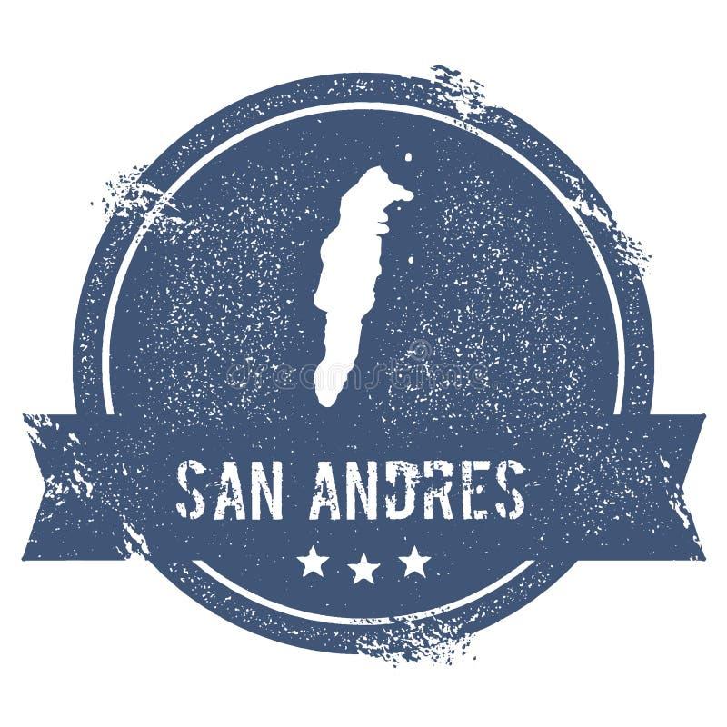 Muestra del logotipo de San Andres stock de ilustración