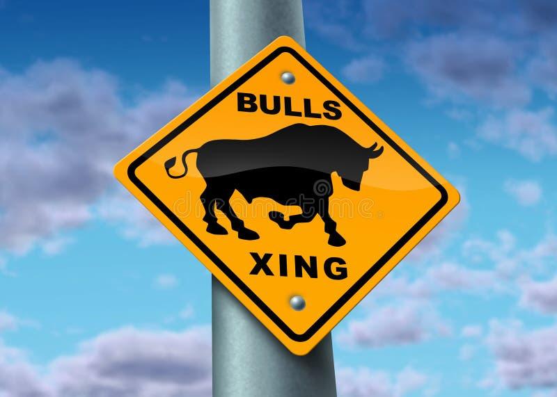 Muestra del mercado de Bull ilustración del vector