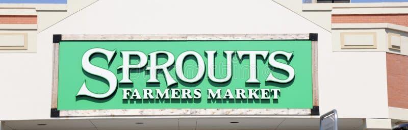 Muestra del mercado estupendo del granjero de los brotes fotografía de archivo libre de regalías
