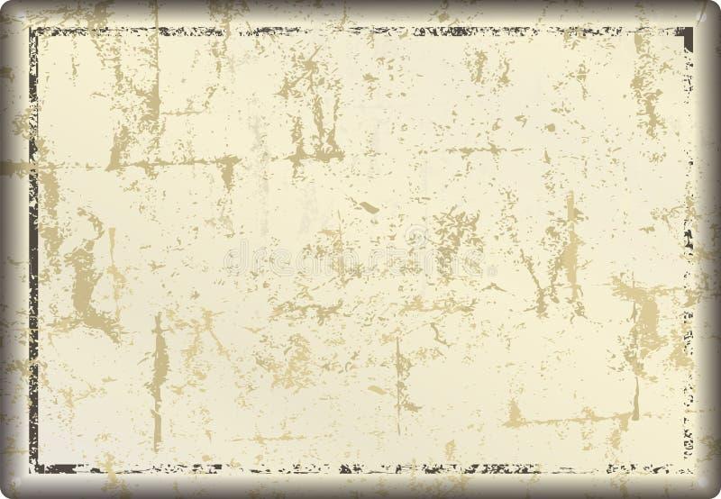 Muestra del metal del Grunge o marco en blanco, ilustración del vector