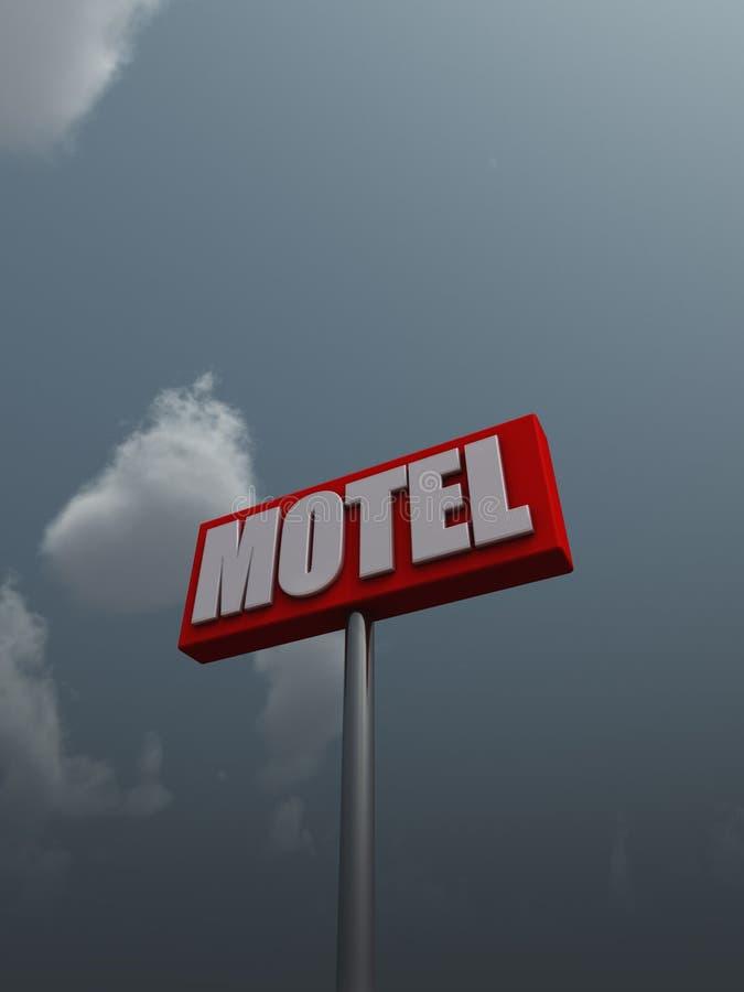 Muestra del motel stock de ilustración
