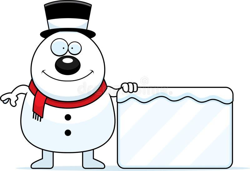 Muestra del muñeco de nieve de la historieta ilustración del vector