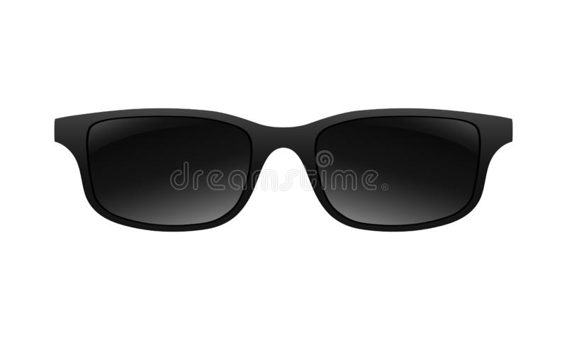 Muestra del negro del gr?fico de las gafas de sol ilustración del vector