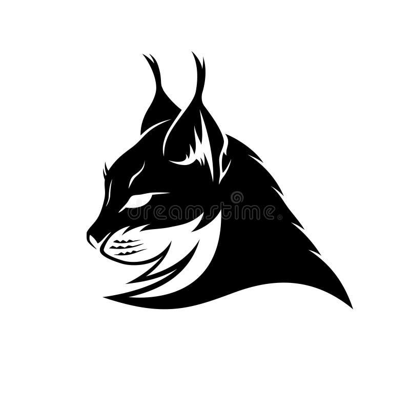 Muestra del negro del lince stock de ilustración