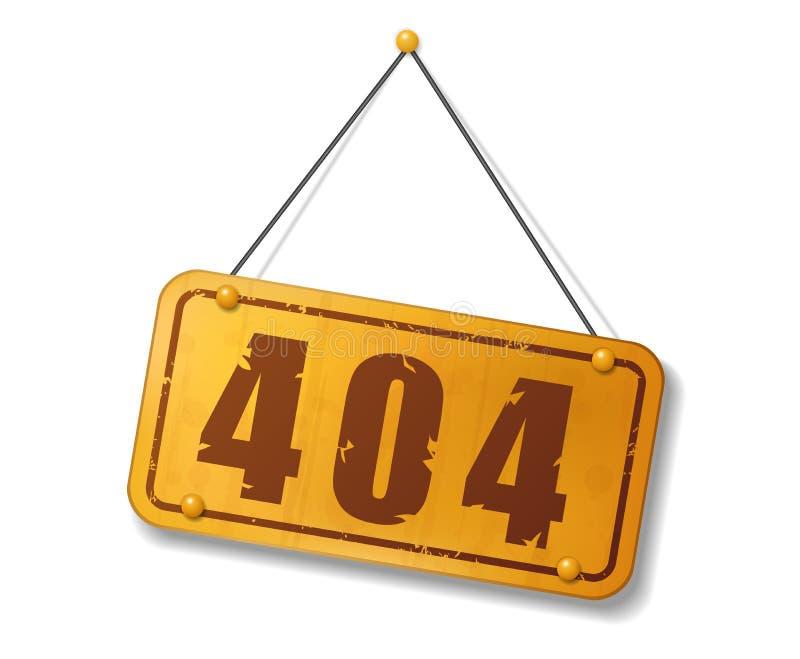 Muestra del oro viejo del vintage con el texto 404 ilustración del vector