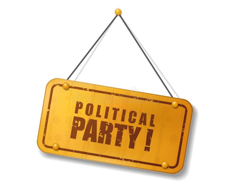 Muestra del oro viejo del vintage con el texto del partido político libre illustration