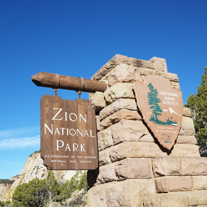 Muestra del parque nacional de Zion. imagen de archivo libre de regalías