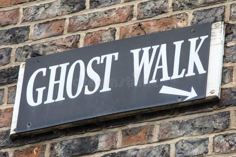 Muestra del paseo del fantasma foto de archivo