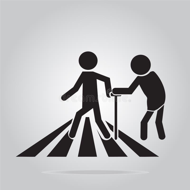 Muestra del paso de peatones, señal de tráfico mayor de la travesía libre illustration