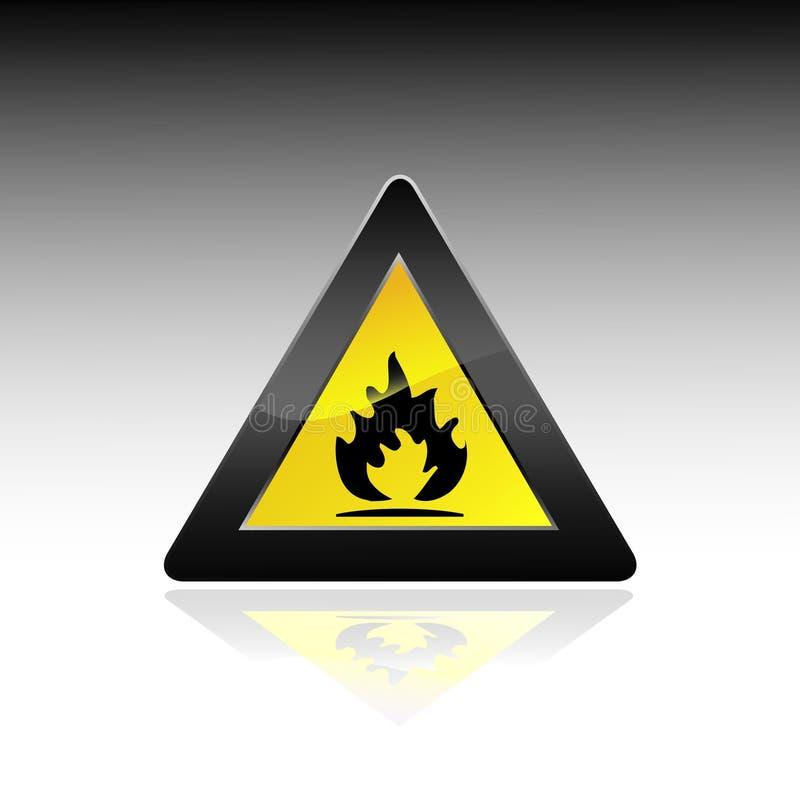 Muestra del peligro del fuego stock de ilustración