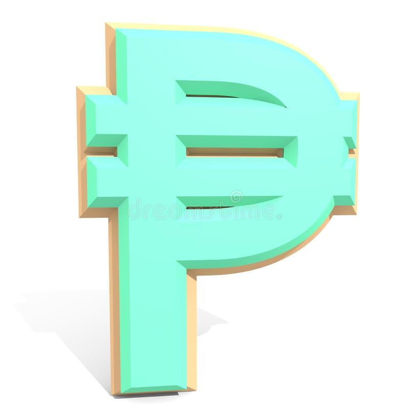 muestra del Peso filipino 3d