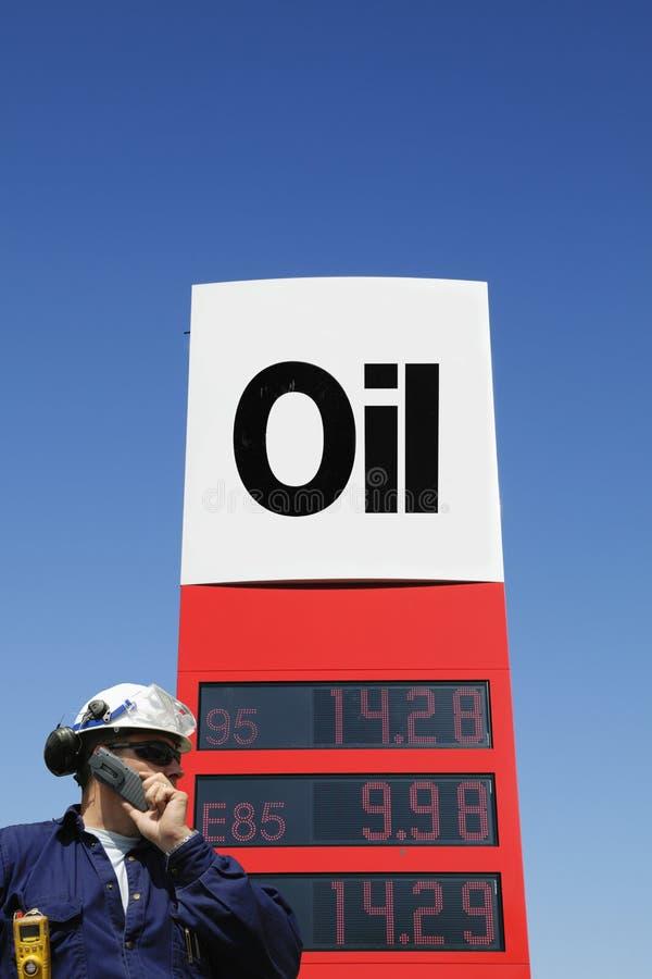 muestra del Petróleo-trabajador y del combustible imagen de archivo libre de regalías