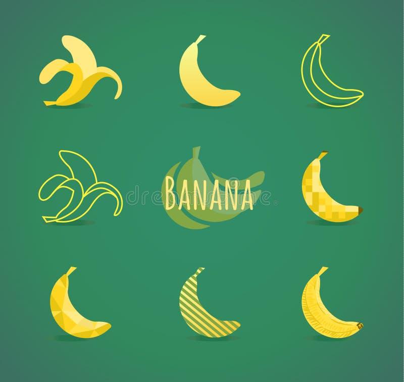 Muestra del plátano ilustración del vector