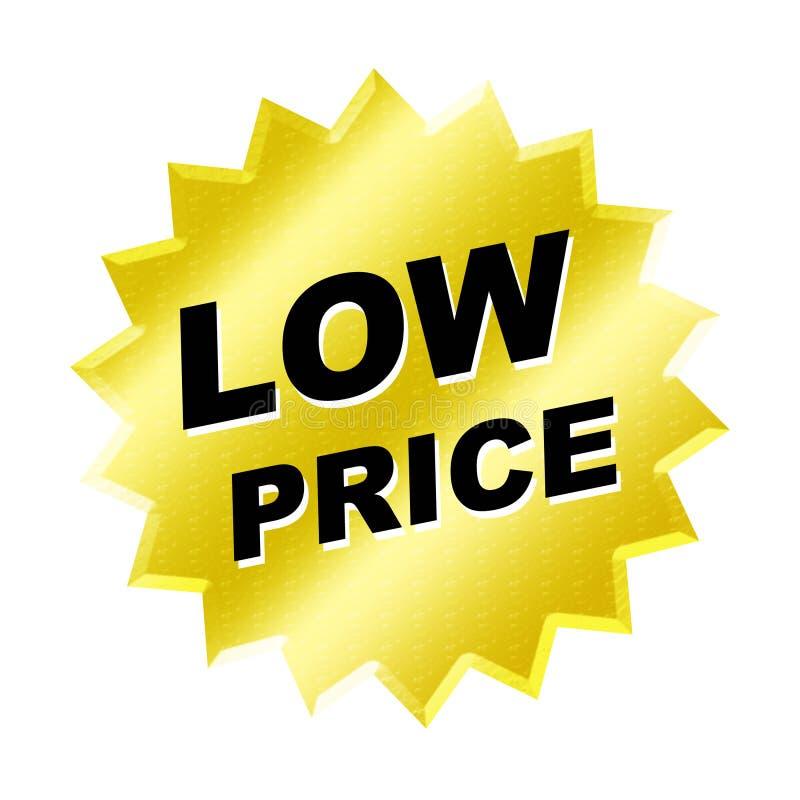 Muestra del precio bajo ilustración del vector