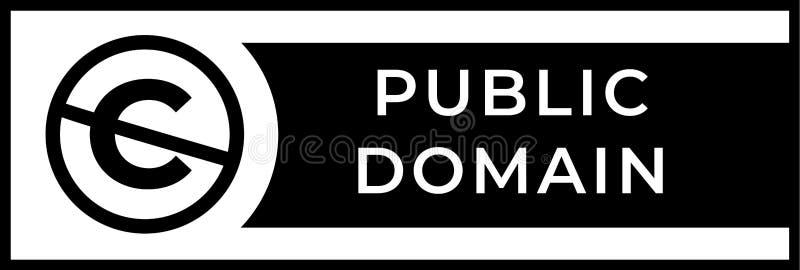 Muestra del public domain con hacia fuera cruzado el icono de la letra de C en un círculo libre illustration