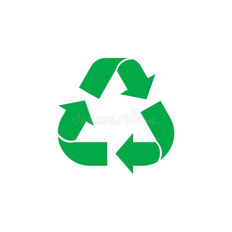 Muestra del reciclaje ilustración del vector