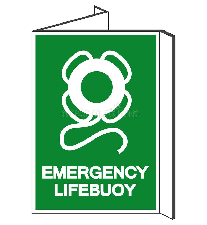 Muestra del símbolo del salvavidas de la emergencia, ejemplo del vector, aislado en la etiqueta blanca del fondo EPS10 libre illustration