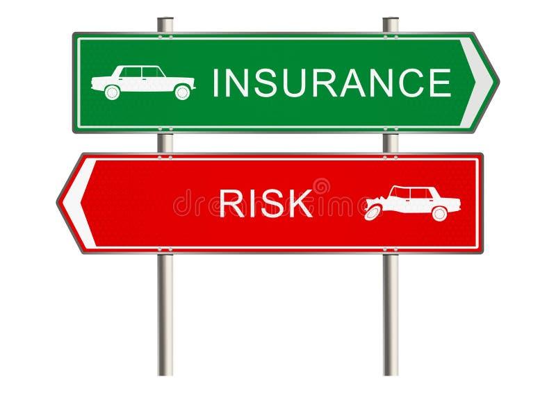 Muestra del seguro de automóvil ilustración del vector