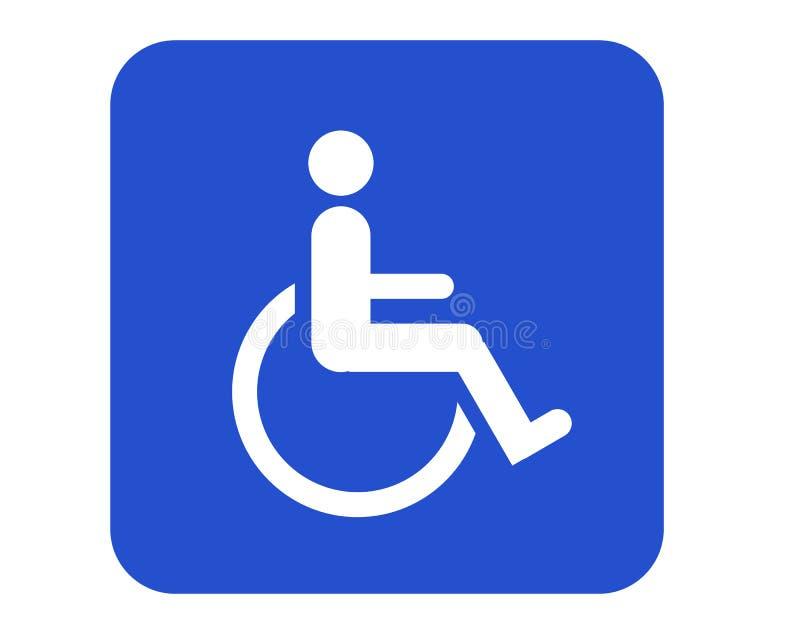 Muestra del sillón de ruedas ilustración del vector