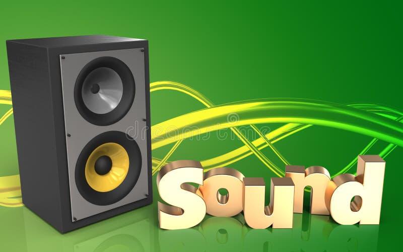 Download Muestra Del 'sonido' Del Espacio En Blanco 3d Stock de ilustración - Ilustración de alto, hospitalidad: 100530407