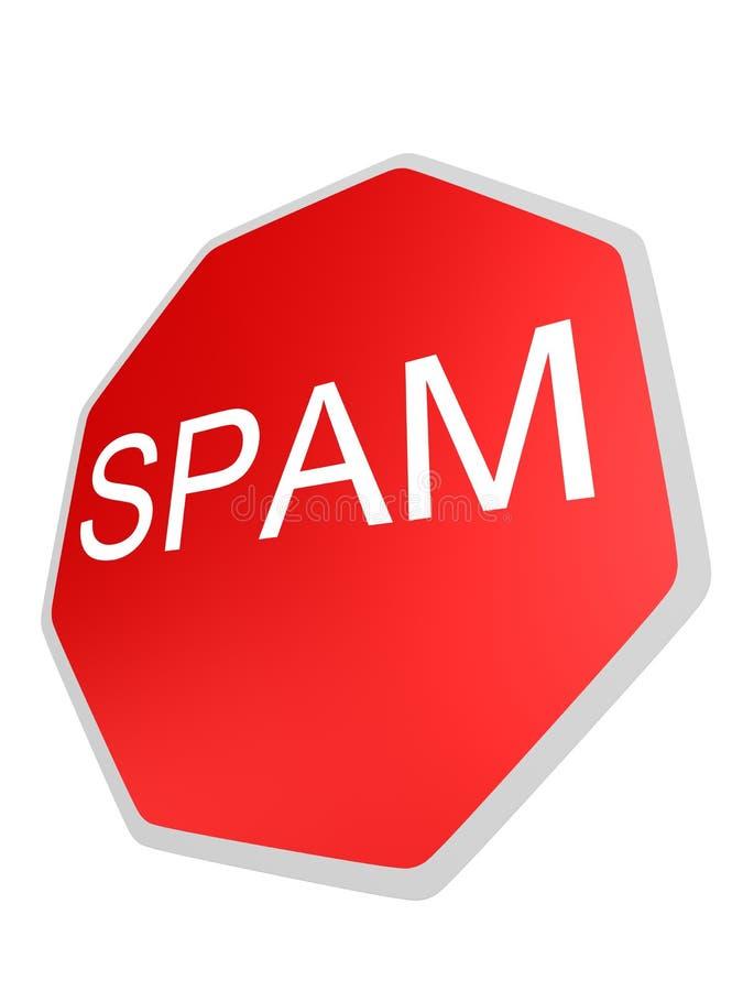 Muestra del Spam stock de ilustración