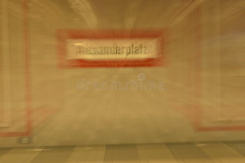 Muestra del subterráneo de Alexanderplatz fotos de archivo libres de regalías