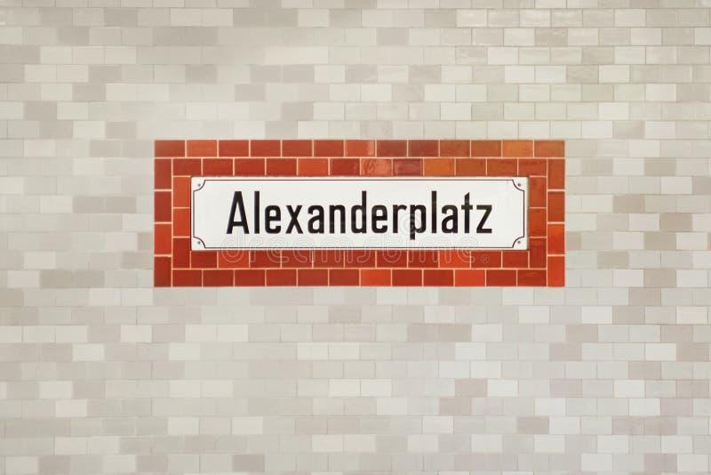 Muestra del subterráneo de Alexanderplatz imagen de archivo libre de regalías
