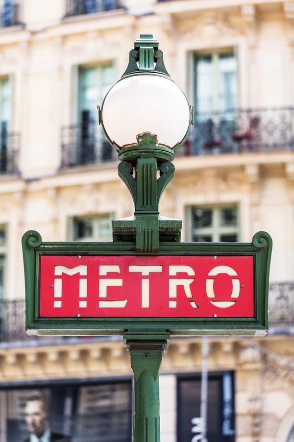 Muestra del subterráneo del metro París, Francia fotografía de archivo libre de regalías