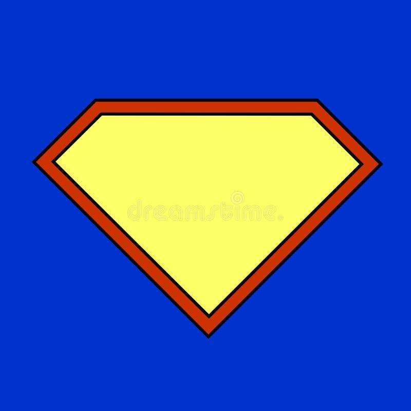 Muestra del superhéroe en fondo azul libre illustration