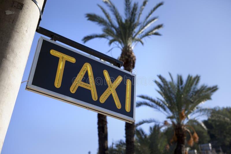 Muestra del taxi imágenes de archivo libres de regalías