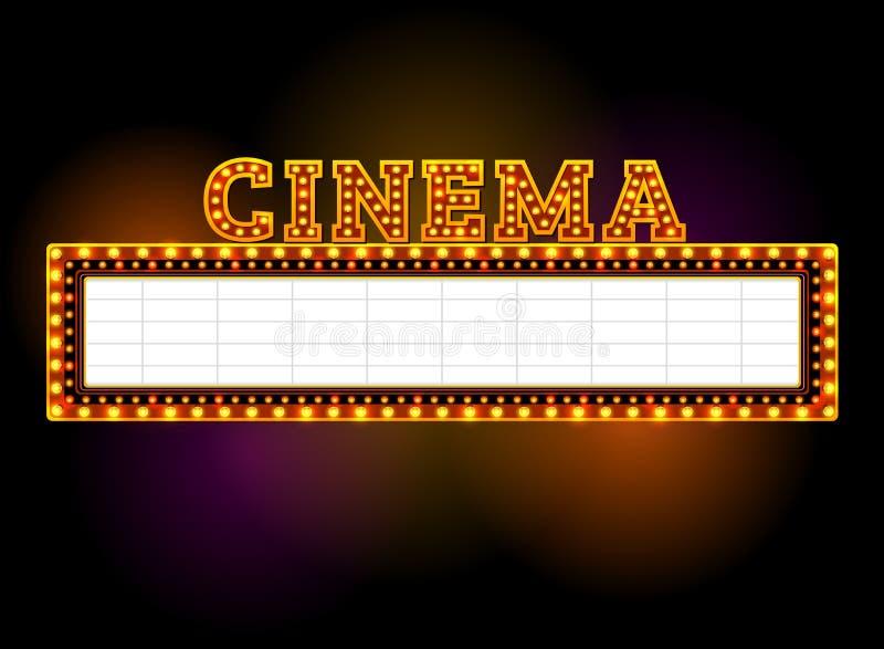 Muestra del teatro con el proyector al aire libre ilustración del vector