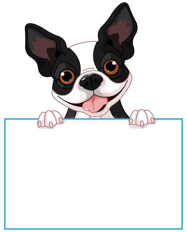 Muestra del terrier de Boston stock de ilustración