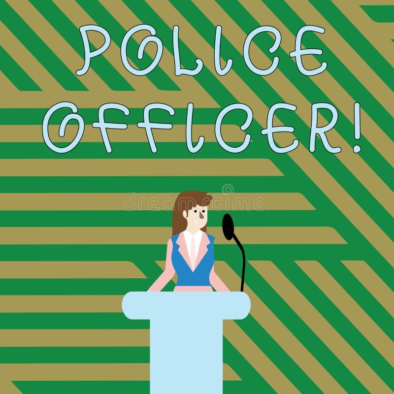 Muestra del texto que muestra al oficial de policía Foto conceptual una demostración que es oficial del equipo de la aplicación d libre illustration