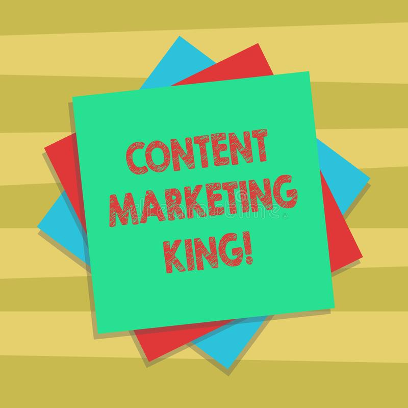 Muestra del texto que muestra al rey contento del márketing El contenido conceptual de la foto es central al éxito de una capa mú libre illustration