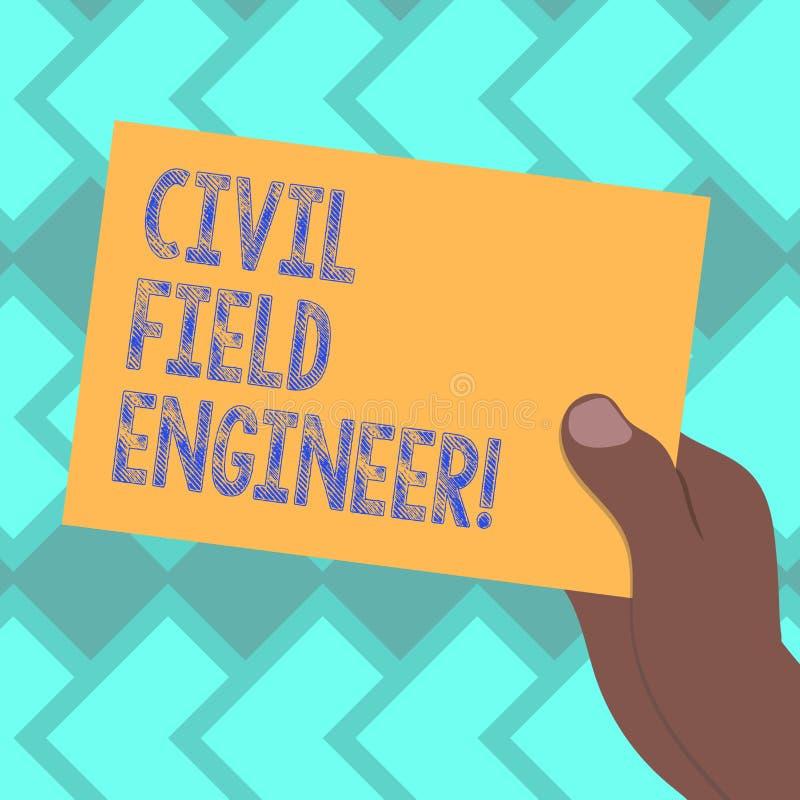 Muestra del texto que muestra al técnico de mantenimiento civil La foto conceptual supervisa la construcción y el mantenimiento d ilustración del vector