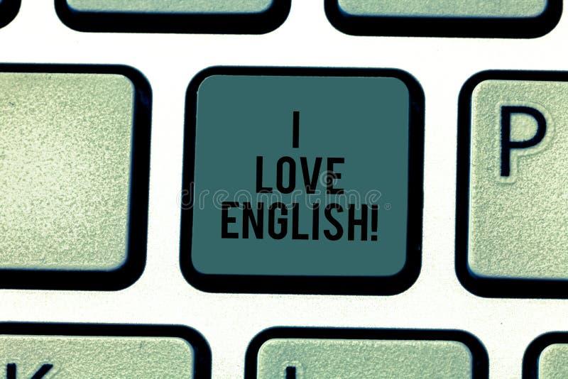Muestra del texto que muestra amo inglés Foto conceptual para tener afecto para la llave de teclado internacional de la gramática ilustración del vector