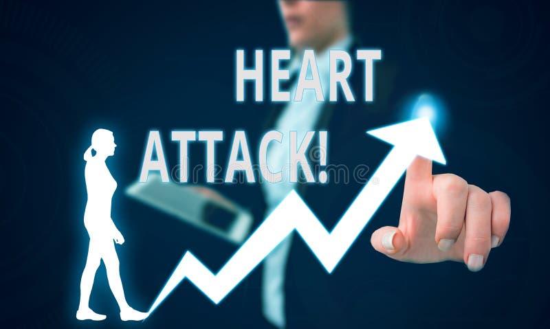 Muestra del texto que muestra ataque del coraz?n Acontecimiento súbito de la foto conceptual de la trombosis coronaria dando por  foto de archivo libre de regalías